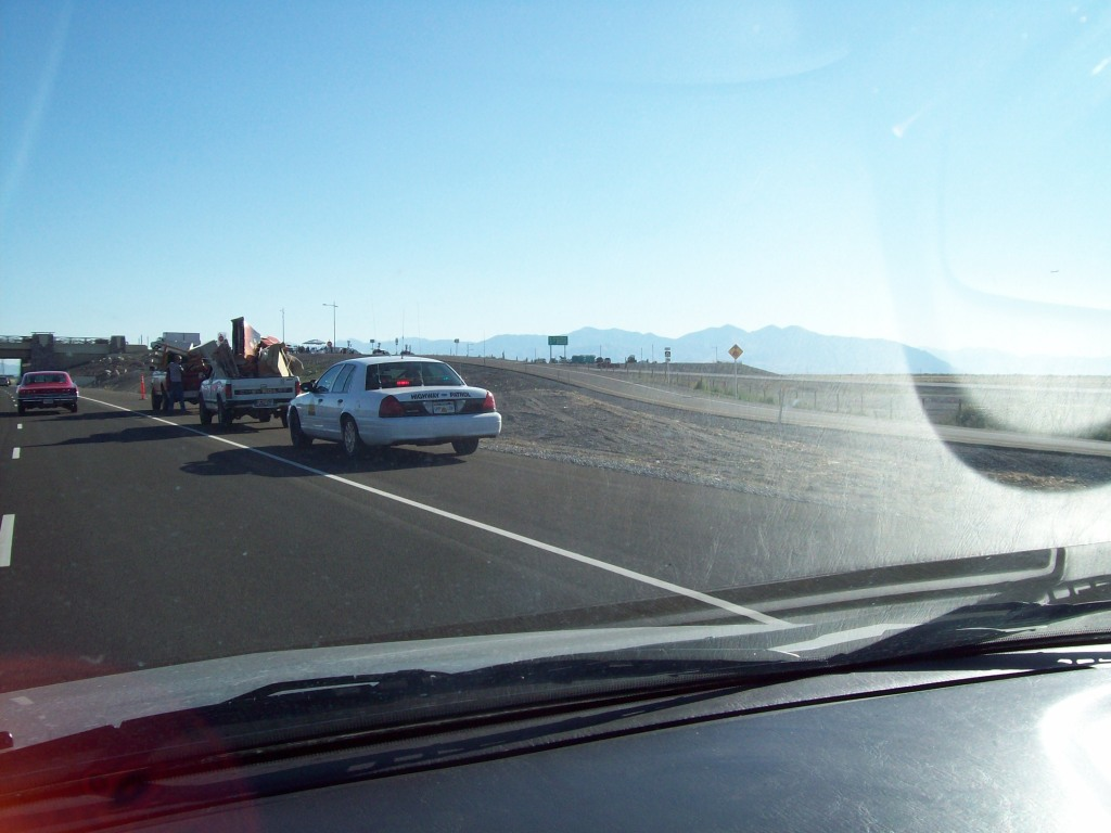 UHP already giving its first ticket and not for speeding, surprisingly (Legacy Parkway has a mandated 55 mph limit)